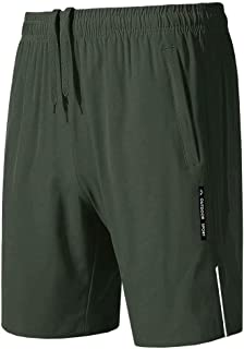 MAGCOMSEN Men's Workout Shorts Quick-Dry Hiking Shorts with Zipper Pockets