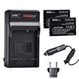 DIGIeye KLIC-5001 Battery (2 Pack) and Charger Kit with Car Adapter for Kodak Easyshare P712 P850 P880 Z730 Z760 Z7590 DX6490 DX7440 DX7790 DX7630 Zoom Sanyo DB-L50