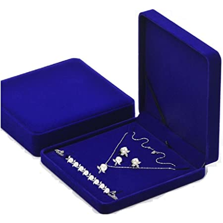 Jewelry Set Box Gift Display Case Wedding Jewelry Storage Holder with Necklace,Earring,Ring