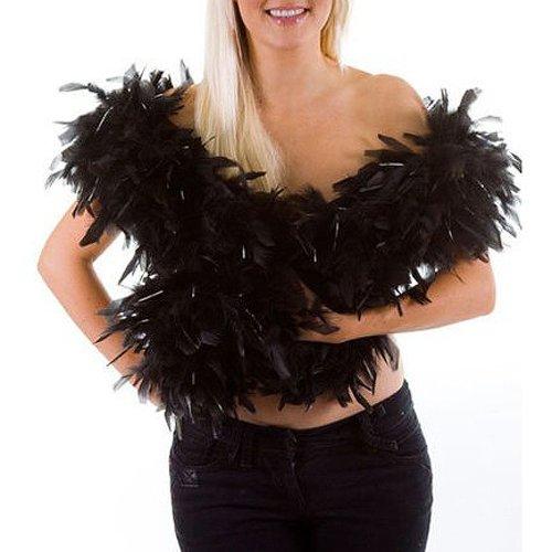 Gleader Boa de plumes - noir - ideal pour les soirees festives