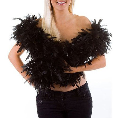 Feather boa - black - great for hen and stag nights by Feather boas