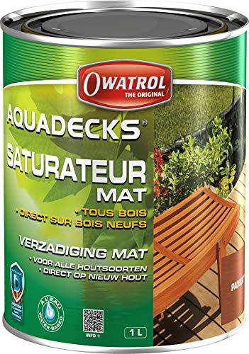 Owatrol Aquadecks - Neuartige wässrige Holzschutz-Imprägnierung 1 Litre, Padauk