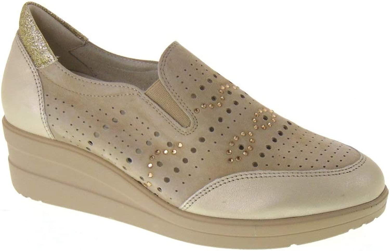 Walk Walk R20133 Mocassini Leder und Camouflage, Farbe Seil  Neuheiten der neuen Produkte
