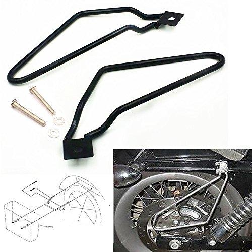 Schwarz Edelstahl Motorrad Tasche Gepäcktaschen Satteltasche Stützstangen Halterung