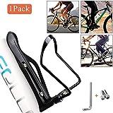 QNFY Portabidones de Bici, Ajustable Portabotellas Bicicleta Aleación de Aluminio Portavasos para Bebidas Deportivas para Bicicletas de Carretera y Montaña (Negro)