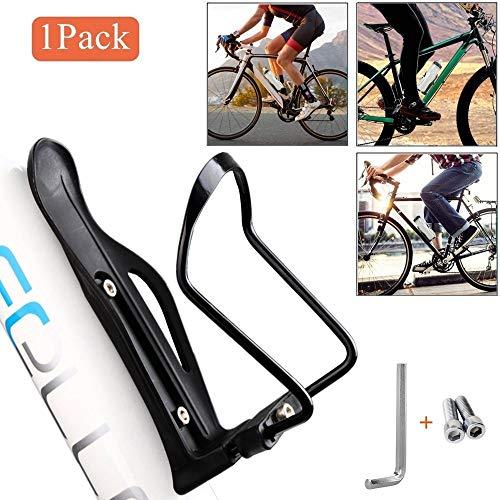 QNFY Fahrrad Flaschenhalter, Einstellbare Fahrrad Getränkehalter Aluminiumlegierung Sport Trinkbecher Halter Rack für Road & Mountain Bikes (Schwarz)
