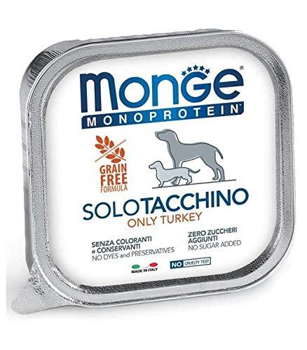 Monge Monoproteico Solo Tacchino Alimento Umido per Cani 12x150gr