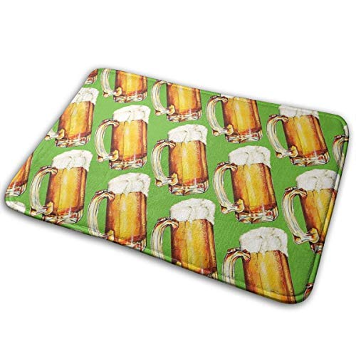 JOOMI Tazas de Cerveza Alfombrilla Antideslizante Felpudo de Bienvenida Alfombrilla Decoración para Dormitorio Cocina Entrada Baño