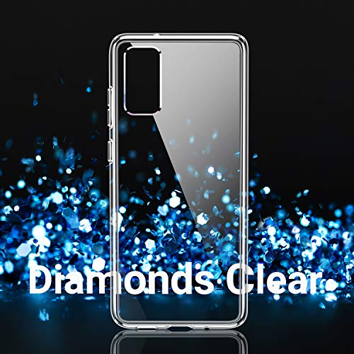 TORRAS Diamonds Clear Designed for Samsung Galaxy S20 Case 2020, [Anti-Yellowing][Fully Protective] Shockproof Slim Thin…