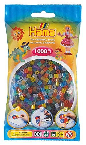 DAN Import Hama 207-53 - Perline, 1000 Pezzi, Colore: Trasparente