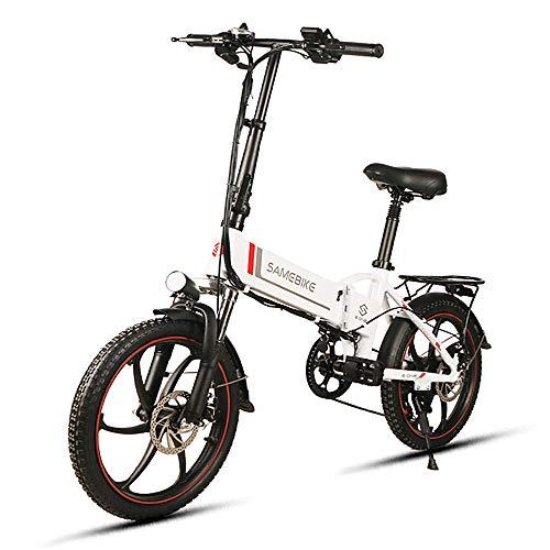 Lixada Bicicleta Eléctrica Plegable de 20 Pulgadas Power Assist Bicicleta Eléctrica E-Bike...