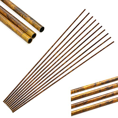 SHARROW 12/24 Stücke Carbonpfeile Schaft Pure Carbon Pfeilschaft 30 Zoll 250-600 Spine Carbonschaft ID 6.2mm Kohlenstoff Pfeilschäfte für DIY Hausgemachte Pfeile (24 Stück/Camo, Spine 250)
