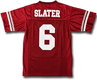Custom Movie Jersey AC Slater #6 Bayside Tigers Saved by The Bell Football Shirt