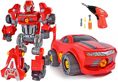 Product Image of the CoolToys Custom 3 in 1 Take-A-Part Robot Toy Playset – Includes Electric Play...