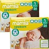 ALDI Mamia - Pañales para recién nacidos, tamaño 1, 2 paquetes de 24 (48 pañales)