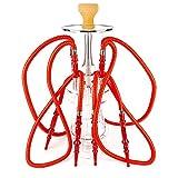 WJMT 4 Manguera Hookah Shisha 60cm Sheeshas Narguile Narguile Conjunto de Agua for Fumar