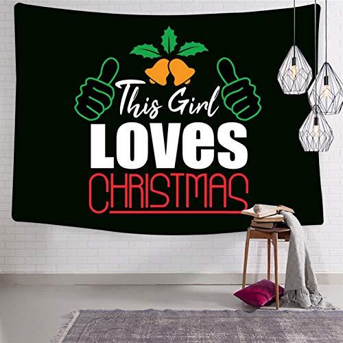 2183 This Girl Loves Christmas 1 tapiz divertido montado en la pared para el hogar cómodo y suave tapices para cama o sala de dibujo