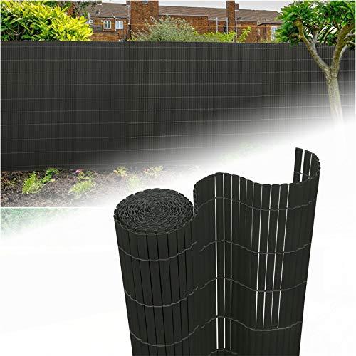 Aufun Sichtschutzmatte PVC 90x800cm - Sichtschutzzaun Anthrazit Windschutz fur Garten Balkon und Terrasse (90x800cm,Anthrazit)
