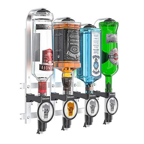 Barbarian - Óptica para botellas 4/6 para bebidas alcohólicas – Bar Butler **con abrebotellas gratis** Soporte de medida de chupito dispensador de bebidas al revés bar