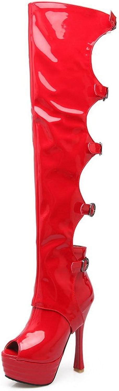 BalaMasa Womens Sandals Peep-Toe Huarache Fabric Urethane Sandals ASL04420