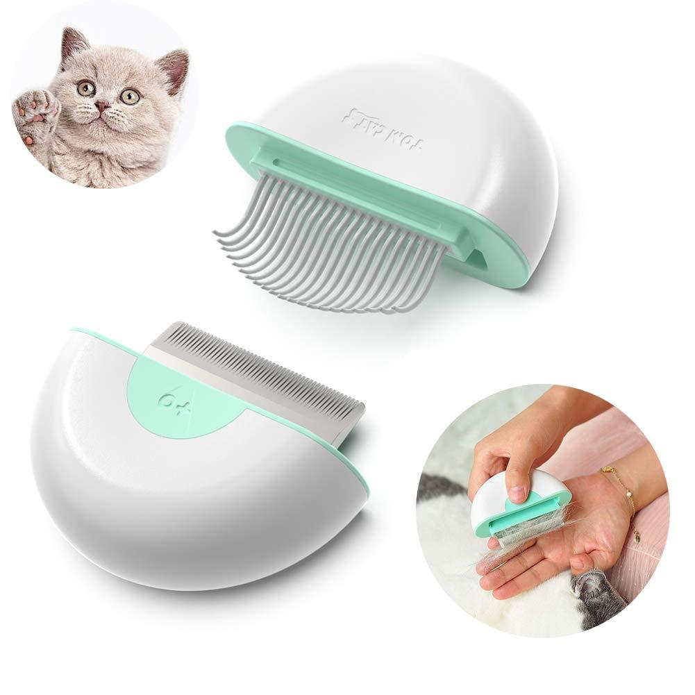Pet Grooming Shedding Brush For Dog Cat Hair Mini 2 In 1 Deshedding Massage Comb Dog Brush To End Shedding Suitable For Long Short Haired Pets Buy Online In Gibraltar At Desertcart