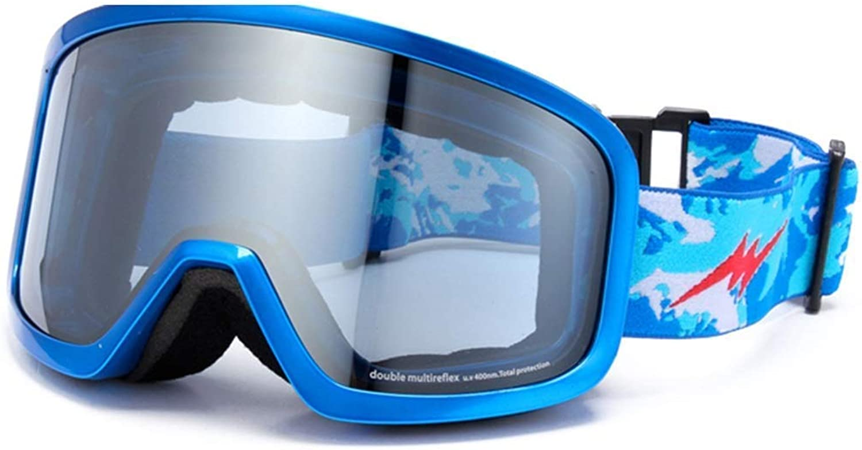 Ski Goggles Sports Glasses Glasses Men's And Women's Cylindrical Climbing Anti-Fog Ski GogglesJBP19 (color   B)