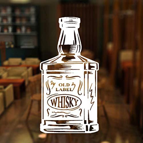 wandaufkleber 29x57 cm Bar whisky tequila flasche aufkleber dekoration abnehmbare vinyl dekoration diy wohnzimmer pvc selbstklebende wasserdichte familie wandkunst