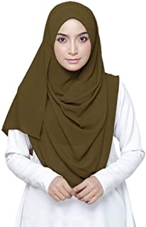 Hijab For Women - Super Soft Plain Bubble Chiffon Scarf - Hijab shayla - Shawls Headband Muslim Hijabs - ideal gift for pa...