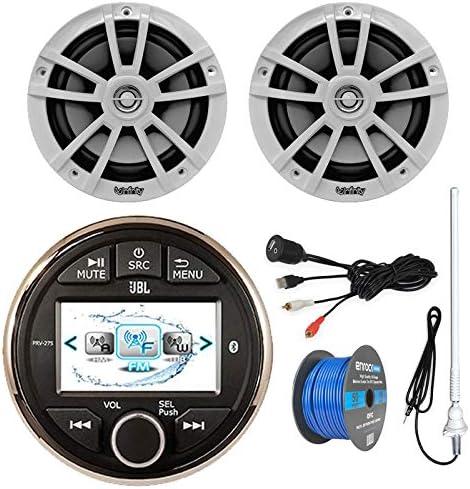 Boat Stereo Upgrade Marine Gauge Style Digital Media Radio PRV 275 Receiver w Bluetooth 2X 6 product image