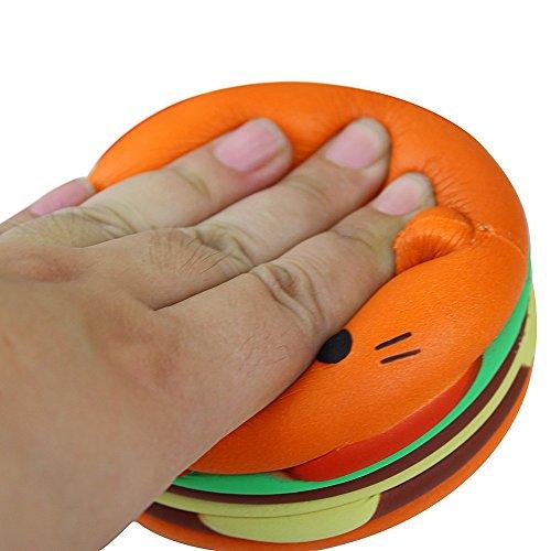 TWIFER Jumbo Cartoon Katze Hamburger Duft Langsam Steigenden Spielzeug Exquisite Kind Stofftier (Orange)