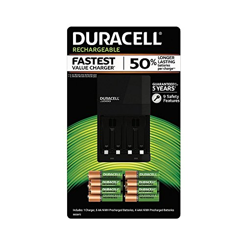 Duracell Battery Charger with Rechargeable AA (6 pk.) and AAA (4 pk.)