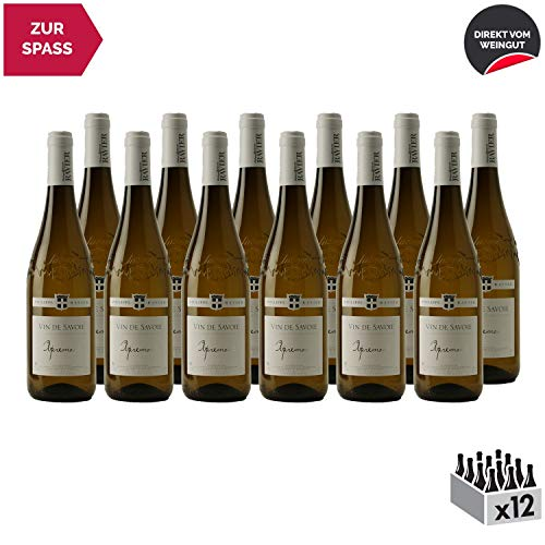 Vin de Savoie Apremont Weißwein 2019 - Philippe et Sylvain Ravier - g.U. - Savoie - Bugey Frankreich - Rebsorte Jacquère - 12x75cl