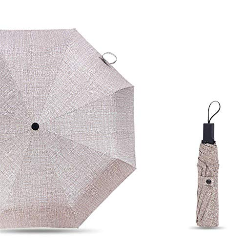 YNHNI Paraguas, Paraguas al Aire Libre de Verano, Paraguas UV, Paraguas de Fibra Simple Plegable, Paraguas de Regalo,Portátil (Color : Light Brown)