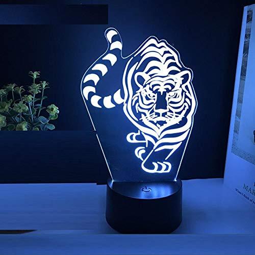 Yujzpl 3D-illusielamp Led-nachtlampje, USB-aangedreven 7 kleuren Knipperende aanraakschakelaar Slaapkamer Decoratie Verlichting voor kinderen Kerstcadeau-Sterrenbeelden landinwaarts