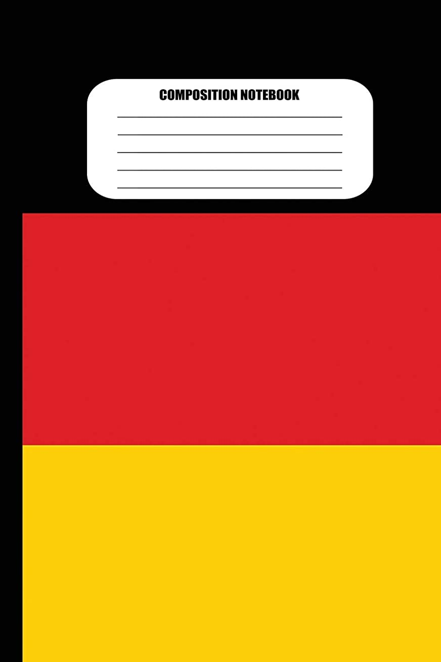 著者フローティングパトロンComposition Notebook: German Flag (100 Pages, College Ruled)