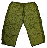 Military Field Pant Liner Cold Weather Trousers Quilted -Olive Drab Green LSR Large Short and Regular