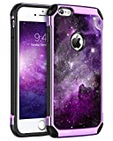 BENTOBEN iPhone 6S Plus Case, Slim Fit Glow in The Dark Shockproof Dual Layer Hybrid Hard PC Soft TPU Bumper Drop Protection Girl Women Covers for iPhone 6/6S Plus 5.5',Nebula/Space