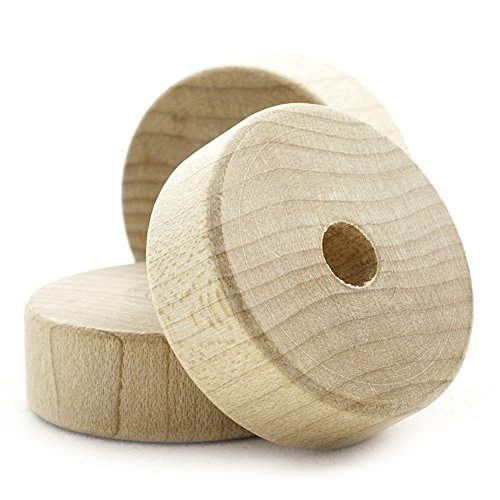 1-1/4' Flat Wooden Toy Wheel - Bag of 500