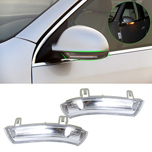 beler 2pcs Left Right Side Mirror Indicator Turn Signal Light Lamp Fit for VW Golf GTI Jetta MK5 Passat Rabbit Eos