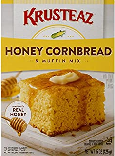Krusteaz Cornbread and Muffin Mix, Honey, 15-Ounces