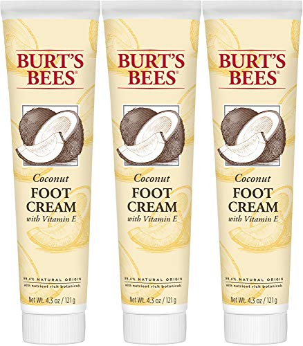 Burt's Bees Coconut Oil Foot Cream, 4.34 Oz - Pack of 3 (Package May...
