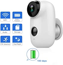 $69 » SDETER Outdoor Security Camera,Wireless Rechargeable Battery Powered Surveillance System,WIFI IP Hd Cctv Video House Monitor