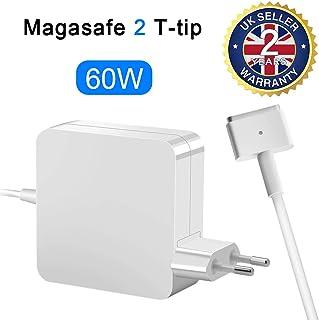 Opluz Compatible Cargador MacBook Pro 60w Adaptador de Corriente MagSafe 2 de Cargador Forma de T Adaptador de Magnético de Reemplazo Cargador para Macbook Pro Retina 13