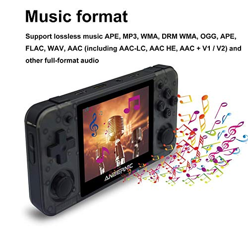 Cracklight Consola de Juegos portátil Consola de Juegos portátil Gamepad para Mini Controladores de Juegos con Juegos Gratis Máquina de Juegos con Pantalla HD IPS de 3.5 Pulgadas