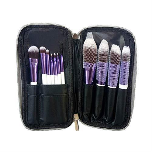 Pinceaux Maquillages Set Complet De Pinceaux De Maquillage 11 Outils De Beauté Maquillage En Fibre De Charbon De Bambou