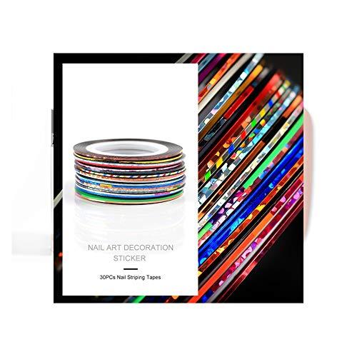 Fashion Galerie 30x Nageldesign Zierstreifen Striping Nail Art Streifen Stripes Stripe Sticker Nagel Aufkleber