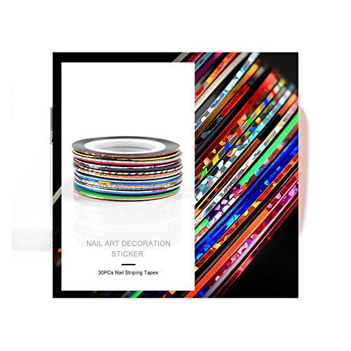Fashion Galerie 30x Nageldesign Zierstreifen Striping Nail Art Streifen Stripes Stripe Sticker Nagel Aufkleber