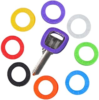 TXIN Key Caps Tags, Silicone Bright Colors Hollow Key Identifier Rings Key ID Rings Key Cap Covers Topper Coding System to...