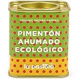 Pimentón Ahumado Ecológico 100% Puro - 75 Gramos - Pimentón Ahumado - Pimentón en Polvo - Condimenta tus Comidas - Apto para Celíacos - Pimentón Español - Producto Gourmet La Pastora