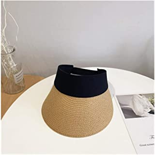 Hats Summer Hat, Male and Female Couple, Wild Visor, Leisure Travel, Empty Top Hat, Fashion (Color : Beige, Size : 56-58cm)